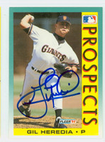 Gil Heredia AUTOGRAPH 1992 Fleer Giants 