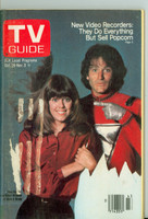 1978 TV Guide Oct 28 Mork and Mindy (First Cover) Eastern Illinois edition Very Good to Excellent  [Wear and scuffing on cover; label removed, contents fine]