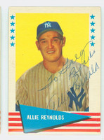 Allie Reynolds AUTOGRAPH d.94 1961 Fleer Greats #69 Yankees 