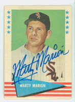 Marty Marion AUTOGRAPH d.11 1961 Fleer Greats #58 White Sox 