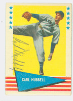 Carl Hubbell AUTOGRAPH d.88 1961 Fleer Greats #45 Giants 