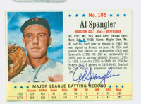 Al Spangler AUTOGRAPH 1963 Post #185 Colts CARD IS CLEAN EX