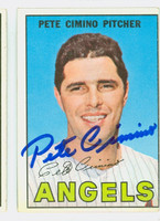 Pete Cimino AUTOGRAPH 1967 Topps #34 Angels CARD IS VG; OC