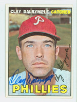 Clay Dalrymple AUTOGRAPH 1967 Topps #53 Phillies CARD IS CLEAN VG/EX