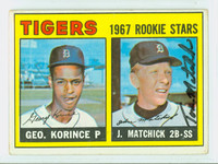 Tom Matchick AUTOGRAPH 1967 Topps #72 Tigers ROOKIE CARD IS G/VG; CRN CREASES, AUTO CLEAN  [SKU:MatcT1702_T67BBC]