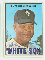 Tommy McCraw AUTOGRAPH 1967 Topps #29 White Sox CARD IS VG; AUTO CLEAN, CRN WEAR
