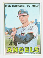 Rick Reichardt AUTOGRAPH 1967 Topps #40 Angels CARD IS POOR; AUTO CLEAN, HEAVY CREASE