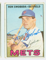 Ron Swoboda AUTOGRAPH 1967 Topps #264 Mets CARD IS F/P; CREASE, AUTO CLEAN  [SKU:SwobR1219_T67BBC]