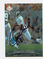 Desmond Howard AUTOGRAPH 1996 Upper Deck Jaguars 