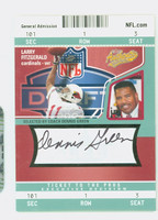 Dennis Green AUTOGRAPH d.16 Fleer Authentics  Cardinals CERTIFIED 