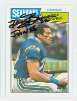 Dave Brown AUTOGRAPH d.06 1987 Topps Football Seahawks   [SKU:BrowD52253_T87FB]