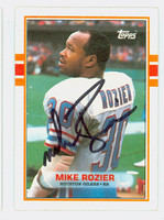 Mike Rozier AUTOGRAPH 1989 Topps Football Oilers 