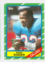 Mike Rozier AUTOGRAPH 1986 Topps Football Oilers 