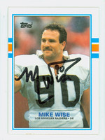 Mike Wise AUTOGRAPH d.92 1989 Topps Football Raiders 