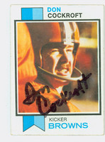 Don Cockroft AUTOGRAPH 1973 Topps Football #79 Browns CARD IS VG/EX  [SKU:CockD50302_T73FB]