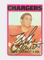 Mike Garrett AUTOGRAPH 1972 Topps Football #241 Chargers CARD IS VG