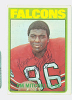 Jim Mitchell AUTOGRAPH d.07 1972 Topps Football #227 Falcons CARD IS VG
