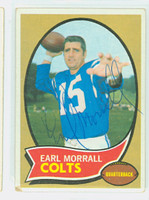 Earl Morrall AUTOGRAPH d.14 1970 Topps Football #88 Colts CARD IS G/VG: CRN WEAR