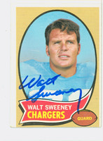 Walt Sweeney AUTOGRAPH d.13 1970 Topps Football #173 Chargers CARD IS VG; OC