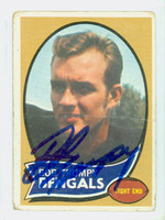 Bob Trumpy AUTOGRAPH 1970 Topps Football #110 Bengals ROOKIE CARD IS F/G; LT CREASES, RND CRNS