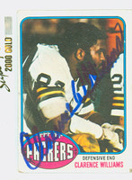 Clarence Williams AUTOGRAPH 1976 Topps Football #282 Packers CARD IS G/VG: CRN WEAR