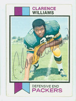 Clarence Williams AUTOGRAPH 1973 Topps Football #109 Packers CARD IS G/VG: CRN WEAR
