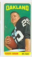 Claude Gibson AUTOGRAPH 1965 Topps Football #140 Raiders CARD IS CLEAN EX  [SKU:GibsC50588_T65FB]