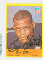 Ron Smith AUTOGRAPH d.13 1967 Philadelphia #10 Falcons CARD IS CLEAN VG/EX