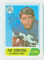 Pat Studstill AUTOGRAPH 1968 Topps Football #156 Rams CARD IS G/VG: CRN WEAR, OC