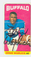 Ernie Warlick AUTOGRAPH d.12 1965 Topps Football #44 Broncos CARD IS VG; AUTO CLEAN