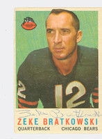 Zeke Bratkowski AUTOGRAPH d.19 1959 Topps Football #90 Bears CARD IS G/VG: CRN WEAR