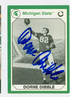 Dorne Dibble AUTOGRAPH 1990 Collegiate Collection Lions 