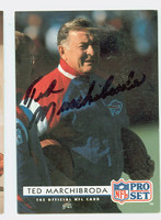 Ted Marchibroda AUTOGRAPH d.16 1992 Pro Set Colts 
