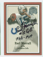 Earl Morrall AUTOGRAPH d.14 2000 Fleer Greats Colts 