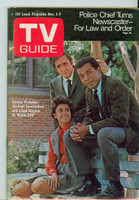 1969 TV Guide Nov 1 Cast of Room 222 Eastern Illinois edition Excellent - No Mailing Label  [Lt wear on cover, ow clean]