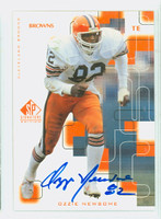 Ozzie Newsome AUTOGRAPH 1999 Upper Deck SP Browns HOF '99 CERTIFIED 