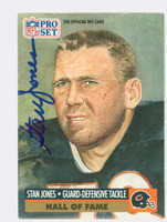 Stan Jones AUTOGRAPH d.10 1991 Pro Set Bears HOF '91 