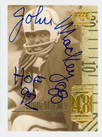 John Mackey AUTOGRAPH d.11 1999 Upper Deck Century Legends Colts HOF '92 