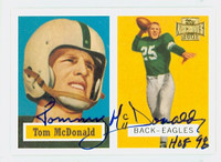 Tommy McDonald AUTOGRAPH Topps Archives 1957 Topps Design Eagles HOF '98 