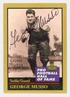 George Musso AUTOGRAPH d.10 1991 Pro Football Hall of Fame card Bears HOF '82 