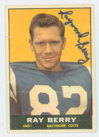 Raymond Berry AUTOGRAPH 1961 Topps Football #4 Colts HOF '73 CARD IS SHARP EX/MT