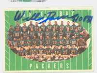Willie Davis AUTOGRAPH 1961 Topps Football #47 Packers Team card HOF '81 CARD IS VG; AUTO CLEAN