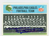Mike Ditka AUTOGRAPH 1966 Philadelphia #131 Eagles Team Card HOF '88 CARD IS CLEAN EX