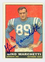 Gino Marchetti AUTOGRAPH d.19 1961 Topps Football #7 Colts HOF '92 CARD IS CLEAN EX