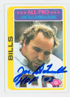 Joe DeLamielleure AUTOGRAPH 1978 Topps Football #20 Bills HOF '03 CARD IS G/VG; HL CREASE
