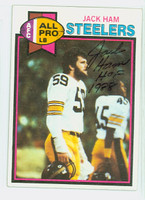 Jack Ham AUTOGRAPH 1979 Topps Football #320 Steelers HOF '88 CARD IS SHARP EXMT