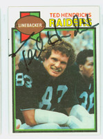 Ted Hendricks AUTOGRAPH 1979 Topps Football #345 Raiders HOF '90 CARD IS VG; CRN DING