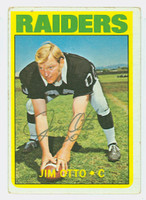 Jim Otto AUTOGRAPH 1972 Topps Football #86 Raiders HOF '80 CARD IS G/VG; LT CREASES; AUTO CLEAN