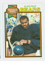 Alan Page AUTOGRAPH 1979 Topps Football #15 Bears HOF '88 CARD IS CLEAN EX