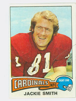 Jackie Smith AUTOGRAPH 1975 Topps Football #14 Cardinals HOF '94 CARD IS CLEAN EX